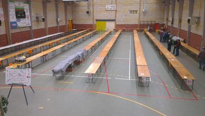 Préparation de la salle - 5 janvier 2013