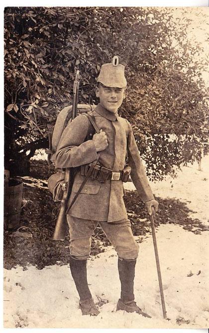 Vater von Elfriede Mosebach Richard Danz 1917 - Sammlung E. Mosebach
