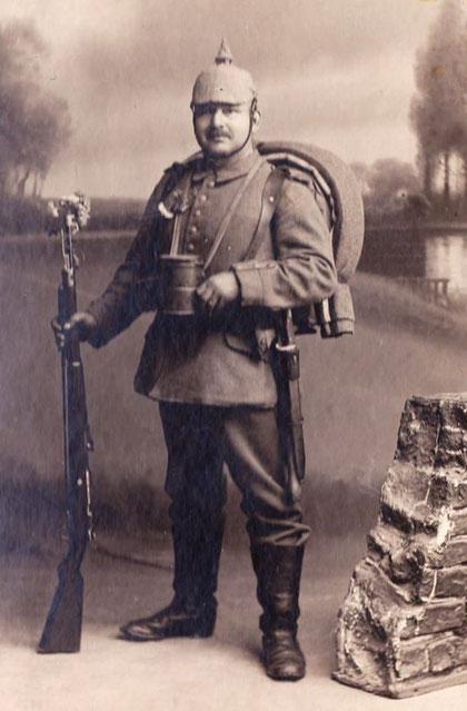Großvater von Elfriede Mosebach 1914