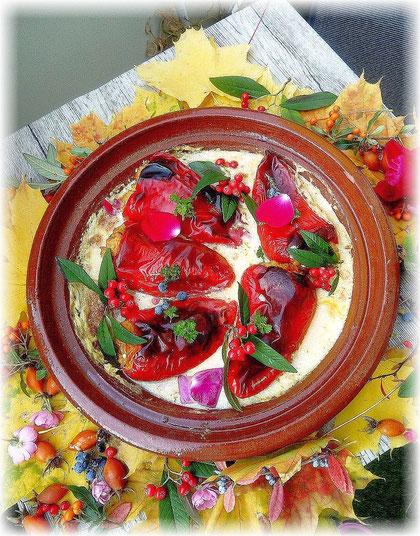 gefüllte Paprika mit Jackfrucht