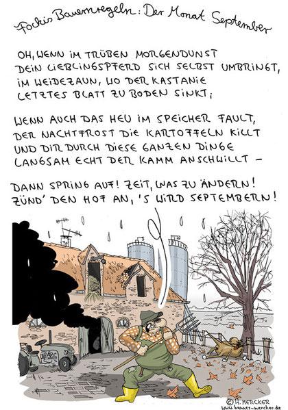 "Bildgeschichte ""Fockis Bauernregeln - September"""