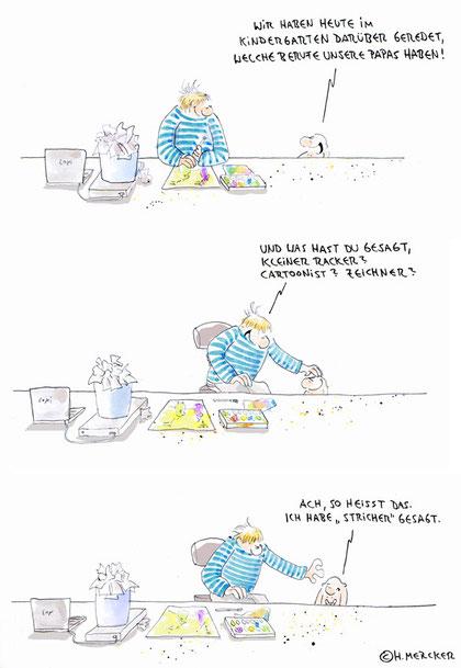 """Bildgeschichte """"Cartoonistenkind"""""""