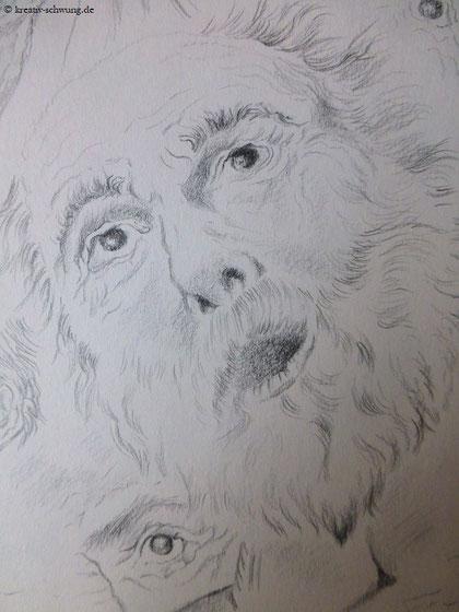 Ein staunender alter Mann