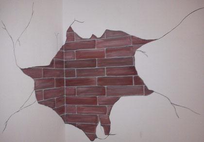 Detail-Ziegeldurchbruch