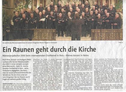 Bericht der Vaihinger Zeitung, auf das Bild klicken zum Vergrößern