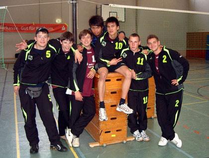 (v.l.n.r.): Dimitri Kektschiew, Jan Grünfelder, Danny Krimmel, Paulo Nagel, Kim Tiprangsee, Tim Nagel u. Oliver Werner