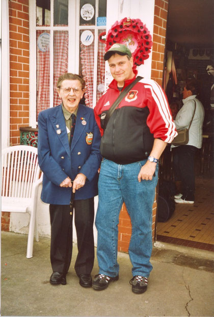 This is me together with British veteran Ken Schwarz who landed on Sword beach on June 6, 1944