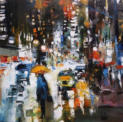 """""""La ville debout"""" - 60x60 - Disponible"""