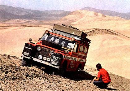 Nino Cirani e la sua Aziza nel deserto dell'Atacama tra Argentina e Cile