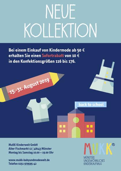Image Design. Handzettel für die neue Kollektion 2019. Für die Firma MuKK von Funkenflug Design Münster