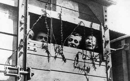 Transport nach Auschwitz. Ort und Datum unbekannt