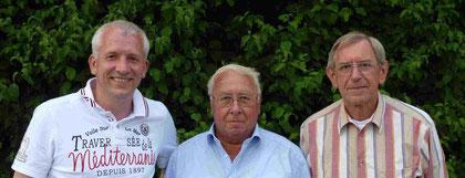 Erfolgreiche Taubenzüchter in der RV Oelde und Umgebung: (v.l.) Martin Stiens, Egon Lohmeier und Hermann Schlief.