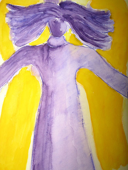 Violetter Engel © Ines Nandi