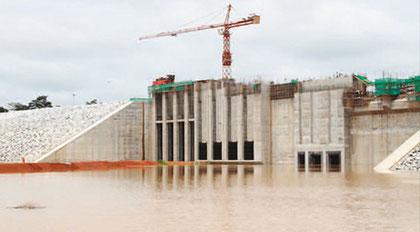 Est-Cameroun : Barrage de Lom-Pangar contruit de 2012 à 2016