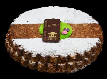 Spicher-Torte von der Bäckerei-Konditorie Spicher in Gunten am Thunersee