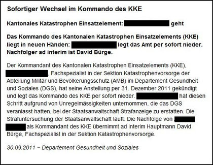 Medienmitteilung des Aargauer DGS vom 30.09.2011 (www.ag.ch)