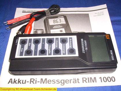 RIM 1000 von ELV Das Akkumessgerät von ELV,zum messen des Innenwiderstands.