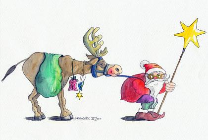 Weihnachtskarte mit Nikolaus