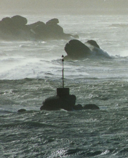 L'Oignon par gros temps à basse mer.