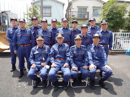 深川第八分団のメンバー