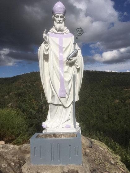 La statue superbement restaurée.