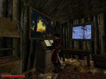 Mendoza in seiner Hütte