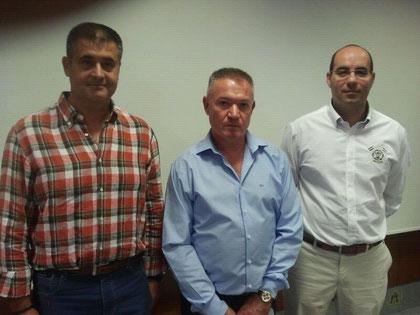 De Izquierda a derecha: D. Francisco Castro Rangel, D. Joaquin García Martínez y D. Manuel Cardenas Teno