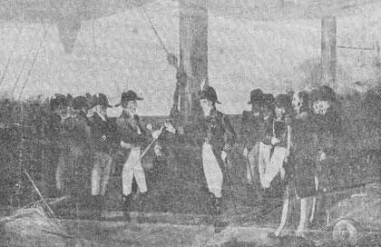 """""""Rendición de la escuadra francesa"""". Foto extraída de internet. Click en la foto."""