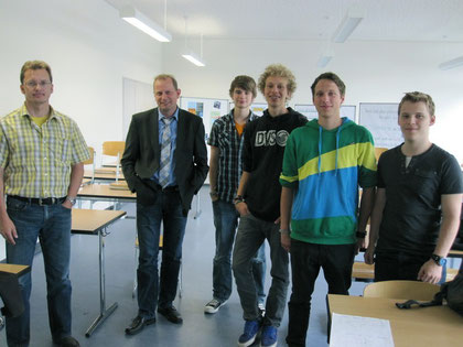Besuch Herr Hersam, Herr Dorn beim Seminarkurs