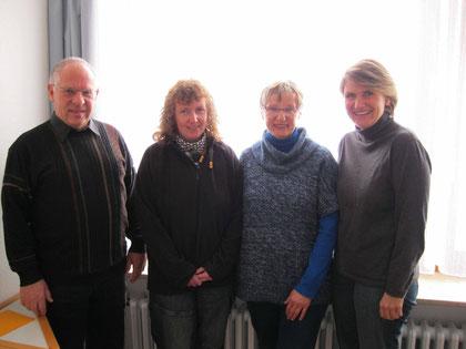 Lesepaten 2011  -  Herr Ammon, Frau Gollmer, Frau Freimüller und Frau Rieger