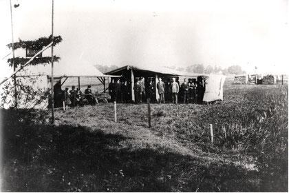 Beim alten Schießstand, im Hintergrund der Kugelfang