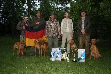 Vize-Europameister im Field Trail in Cegléd, Ungarn am 11.-13.5.2013