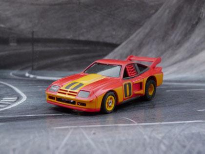 AURORA AFX Monza GT rot/gelb #0