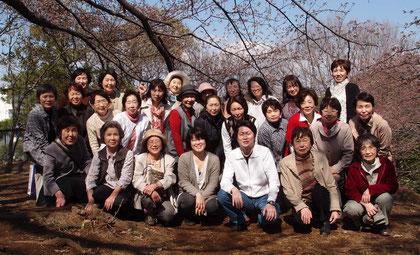 お花見  (ひなた村にて)   (2012年4月)