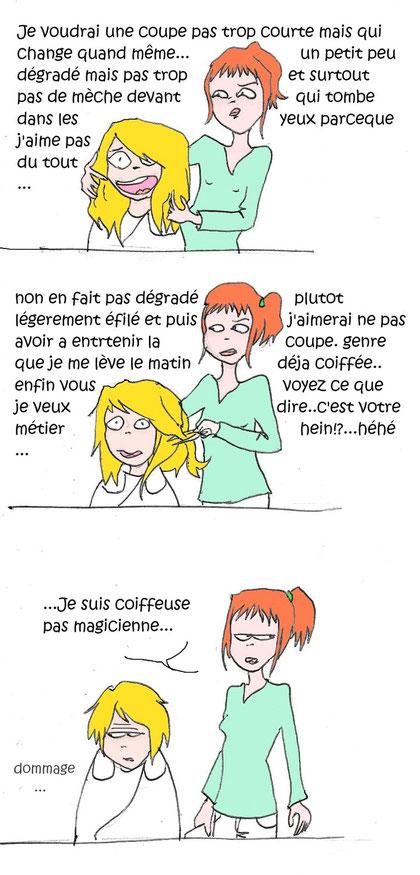 """""""Comme le pou, le coiffeur est le parasite du cheveux"""" Pierre Desproges"""