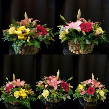 Cesta de flores variadas   ref C06