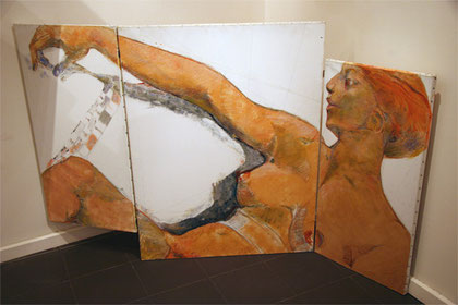 Jean-François Comte expose ses peintures aux Chambres de l'Abbaye, à Saint Germer de Fly. Proche de Gerberoy, sa galerie est aussi proche de Paris