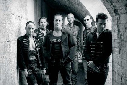 Rammstein (Paul, Christoph, Till, Olli, Flake, Richard)