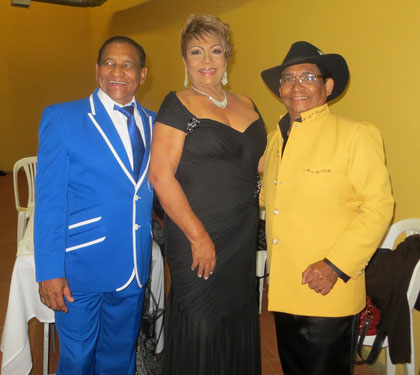 Con Doris Salas y Hernán Hernández