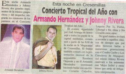 Armando Hernández en el Concierto Tropical del Año