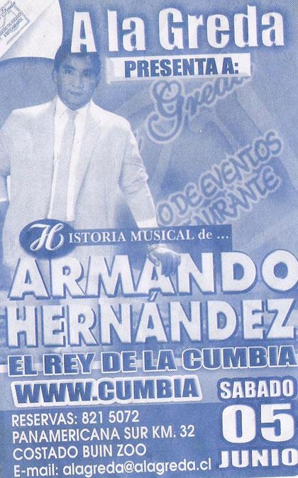 Poster Armando Hernández chile
