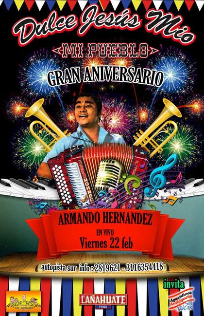 Armando Hernández en Fonda Dule Jesús Mío