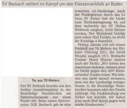 Saarbrücker Zeitung vom 27.04.2011