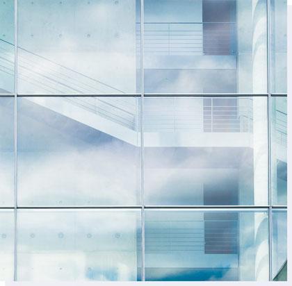 Glasfugen einer Fassade