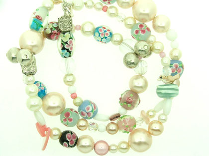 "Emma Hedley 32"" recycled beaded necklace"