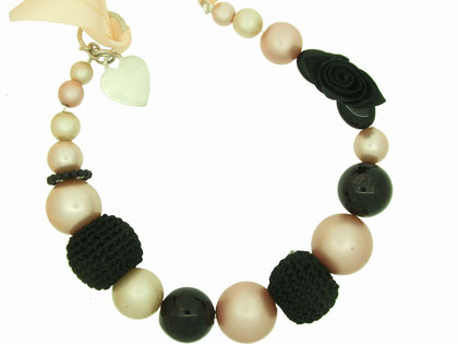 Emma Hedley Vintage pearl and ribbon neckalce