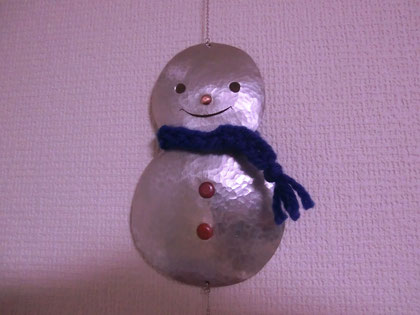 雪だるま モビール(アルミ)