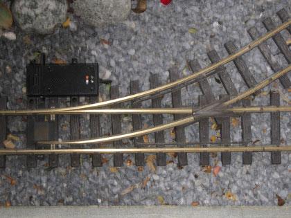 Weiche R1 mit Weichenantrieb