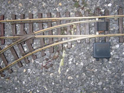 Weiche R1 ohne elektrischen Weichenantrieb