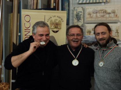 Da sinistra: Fausto Cominato, Loris Mazzoletti e Silvio Scotti